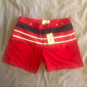 Solid and Striped Men's Swim Trunks